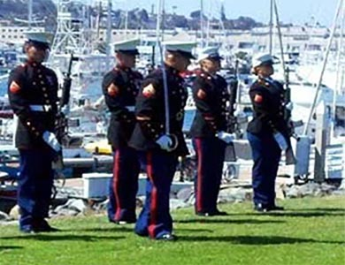 Rifle Guard as part of Military Honors