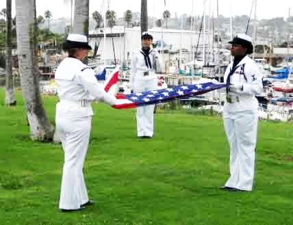 Veteran Flag Folding