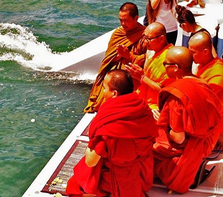 Monks chanting - ashes at sea