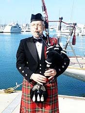 bag piper for sea scattering